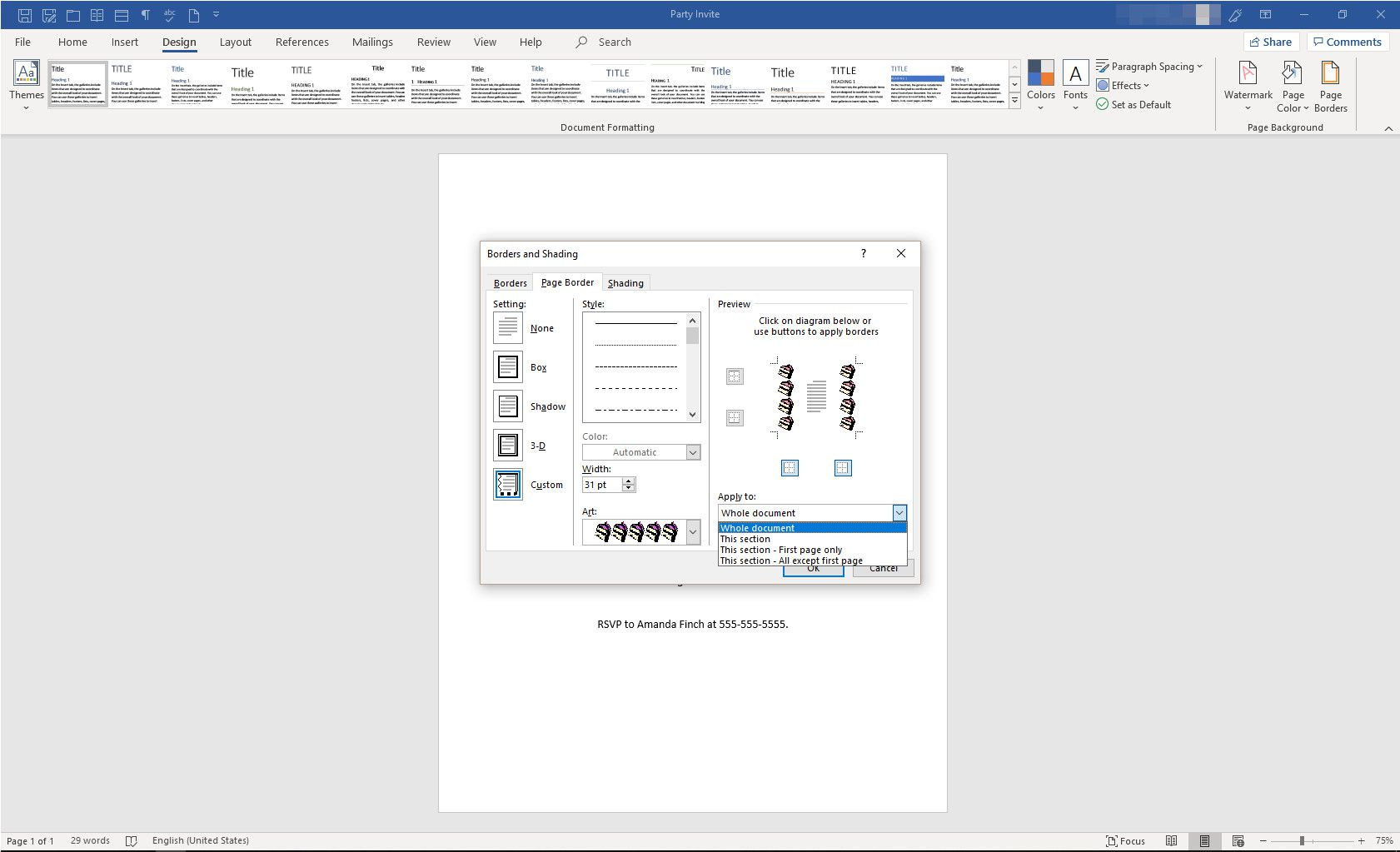 How to Create a Flyer Border in Microsoft Word