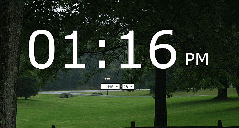 Screenshot of the Onlive Clock website