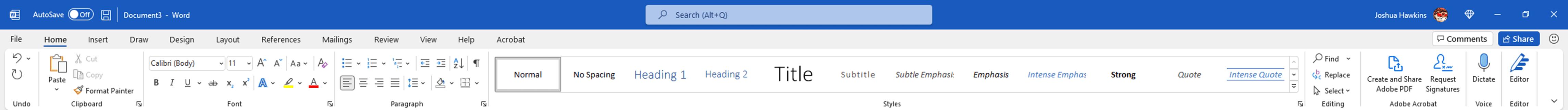 Screenshot of the new Microsoft Office 365 Ribbon.