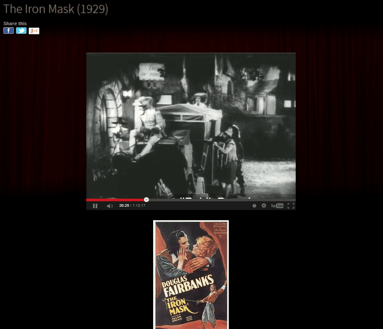 Screenshot of the movie The Iron Mask from Classic Cinema Online