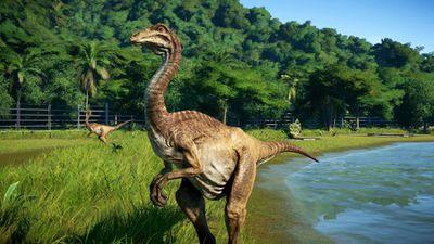 Jurassic World Evolution dinosaur video game on Xbox One.
