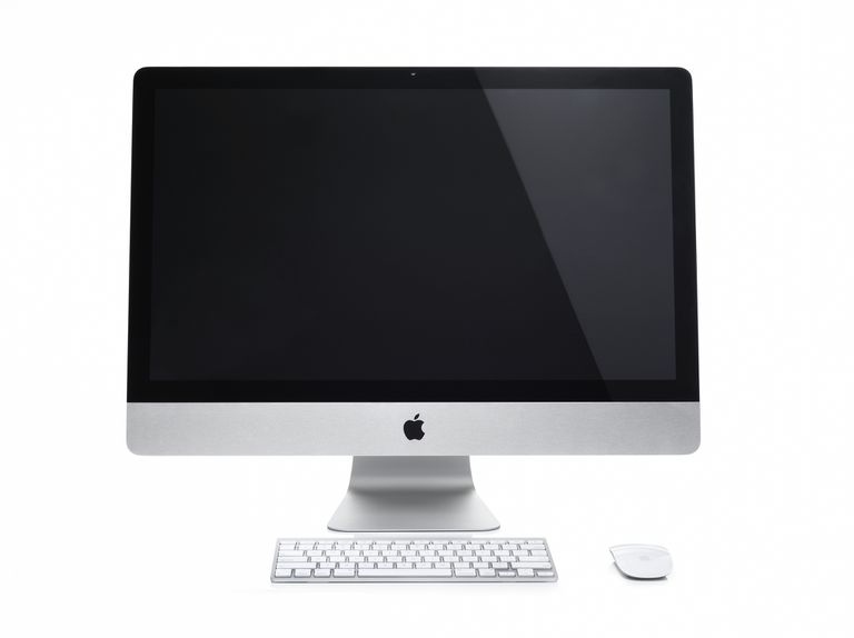 image of an iMac with Apple logo on the monitor