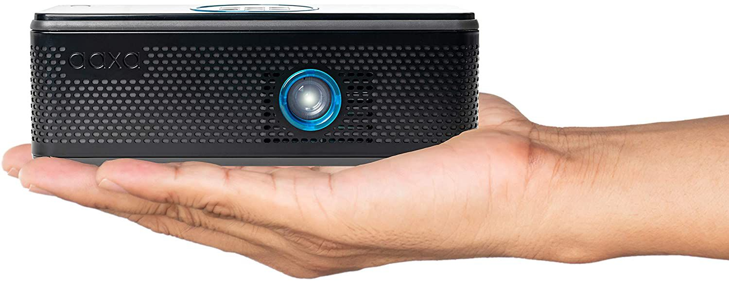 The AAXA BP1 is a portable projector that doubles as a Bluetooth speaker.