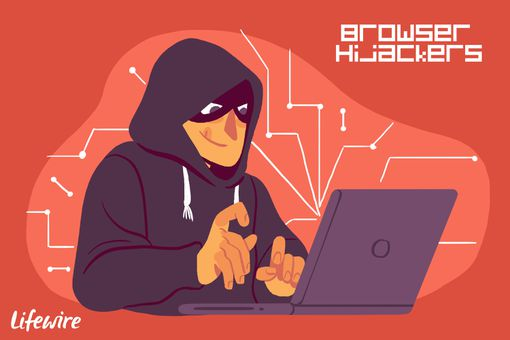 A conceptual illustration of a browser hijacker.