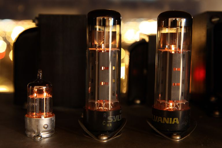 Vacuum tubes installed in a stereo