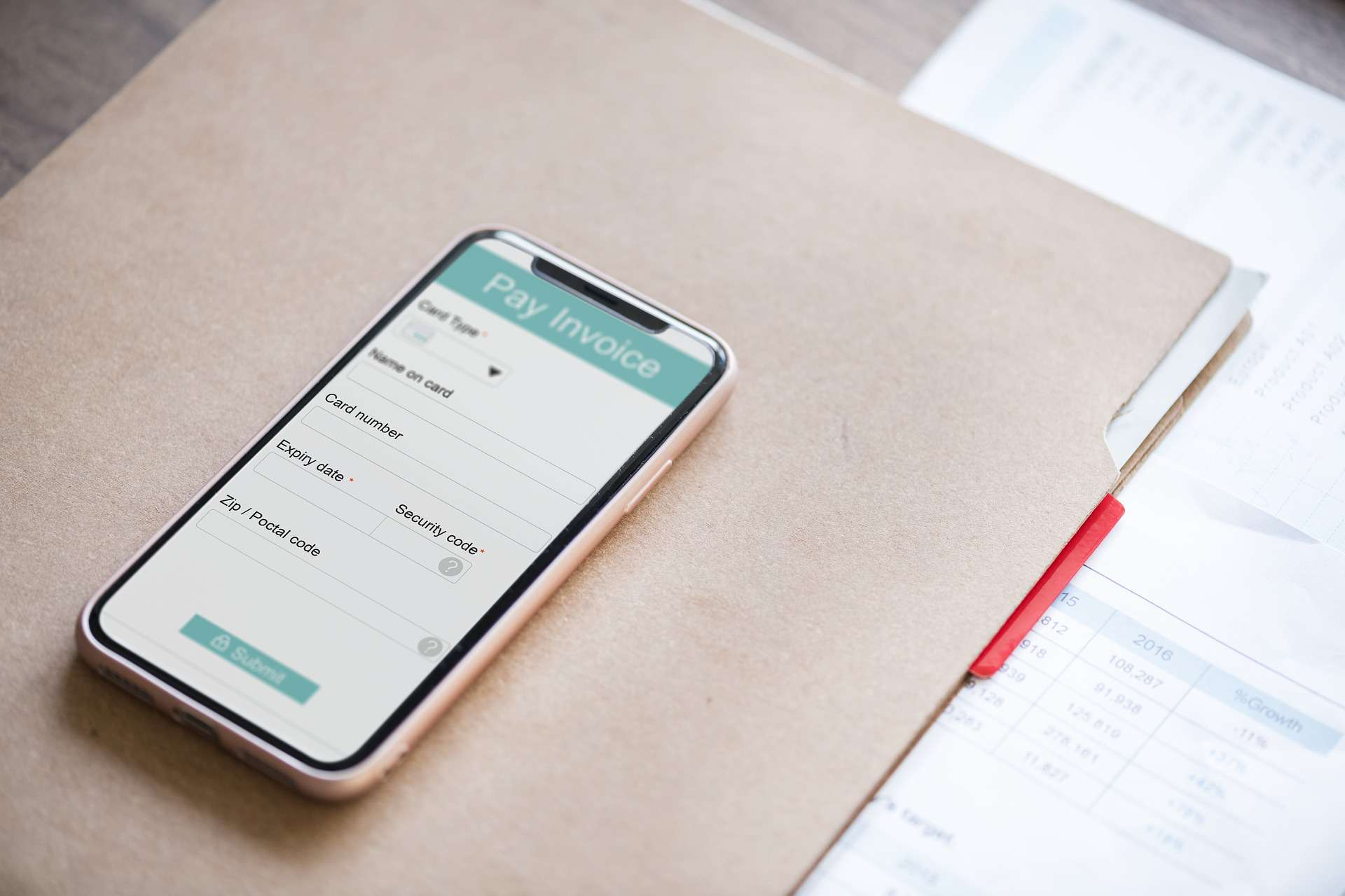 Invoice app on mobile