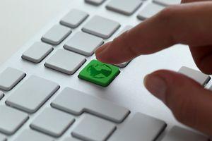 keyboard message, green earth