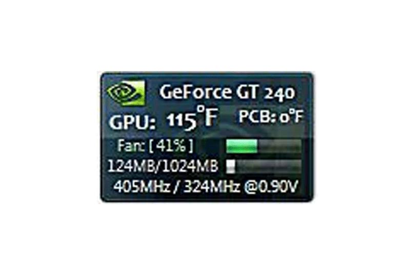 GPU Observer Windows gadget