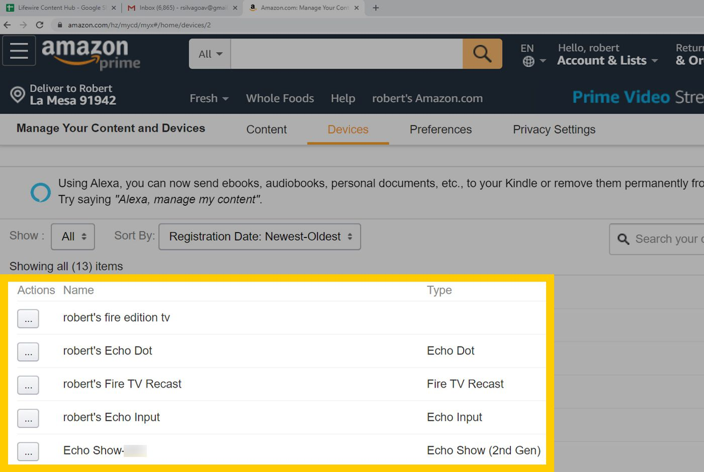 Amazon Web Browser Device and Content – List of Devices