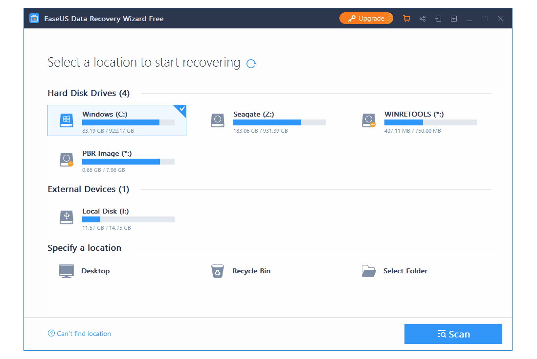 easeus data recovery free limitations