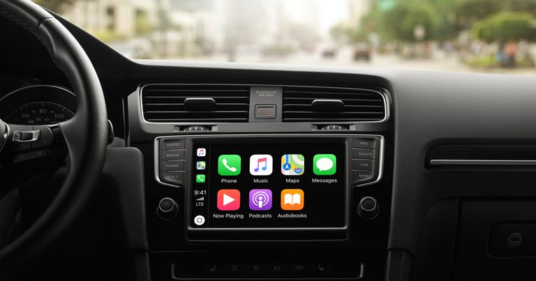 Apple CarPlay on car dashboard