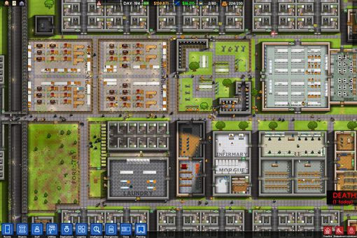 Screenshot from Prison Architect
