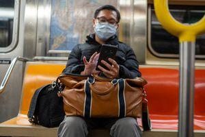 Texting on NYC subway