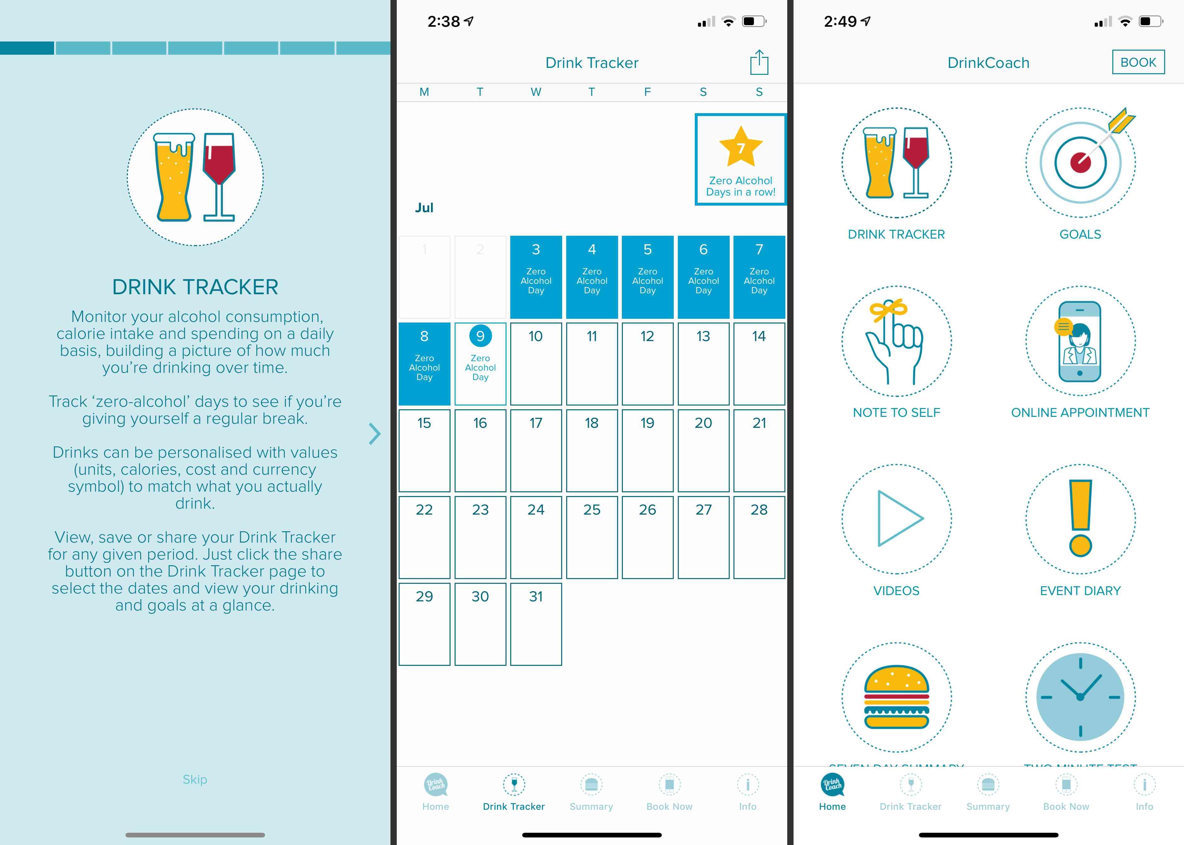 Drink Coach app