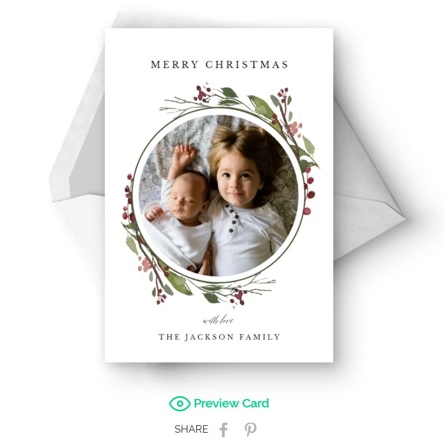 Free Christmas e-card with a place for photos