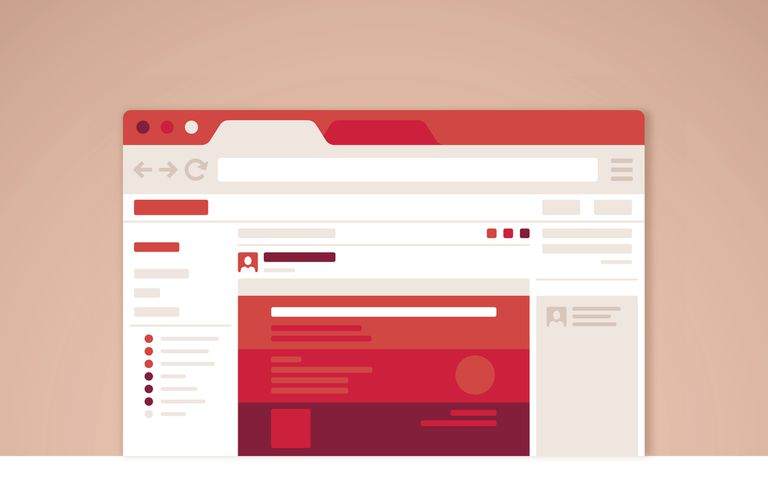 An image graphic of a website concept on a web browser.