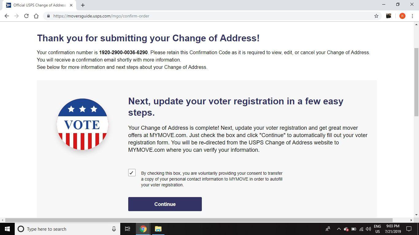 Post Office Change Of Address Online