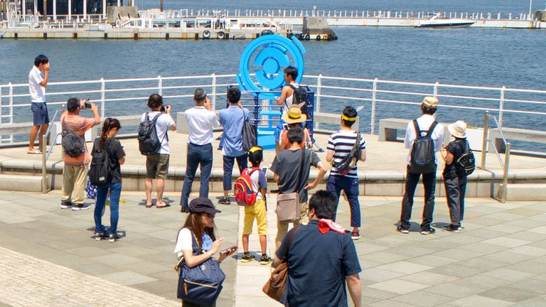 A Pokemon Go event in Yokohama, Japan.