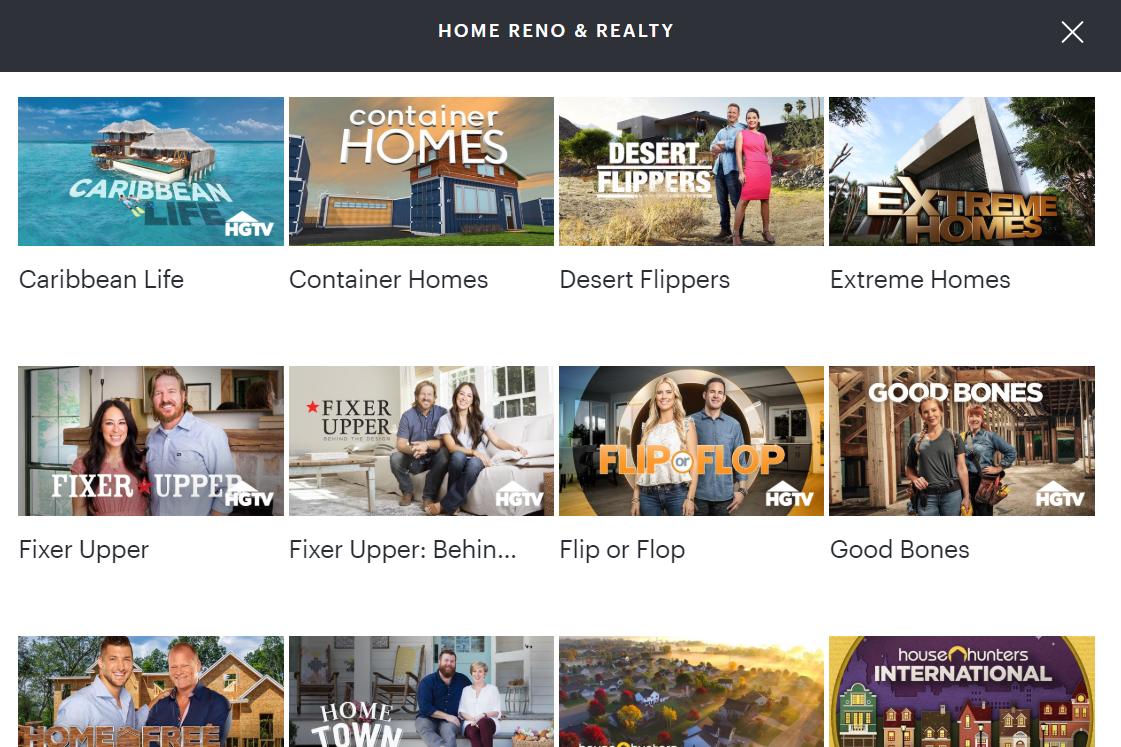 Hulu home reno and reality page