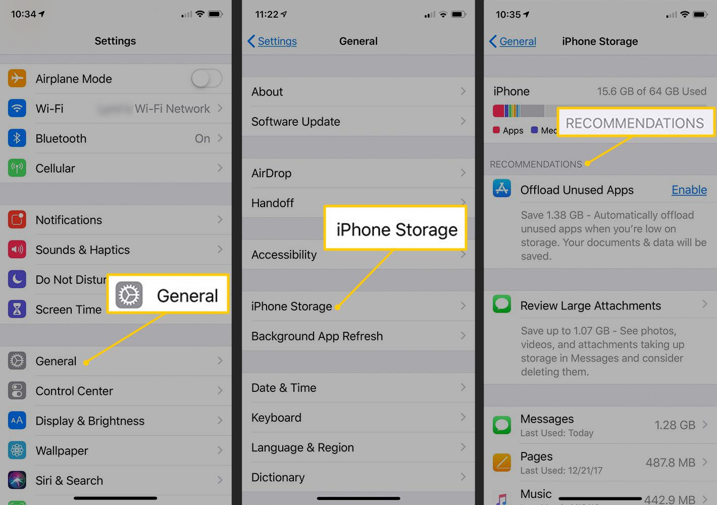 best way to free up storage on iphone