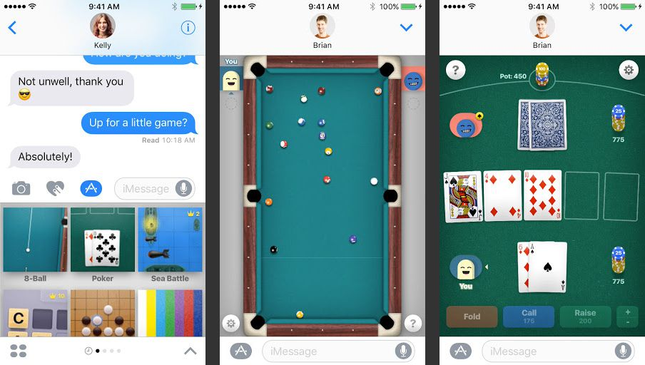 Game Pigeon app for iMessage