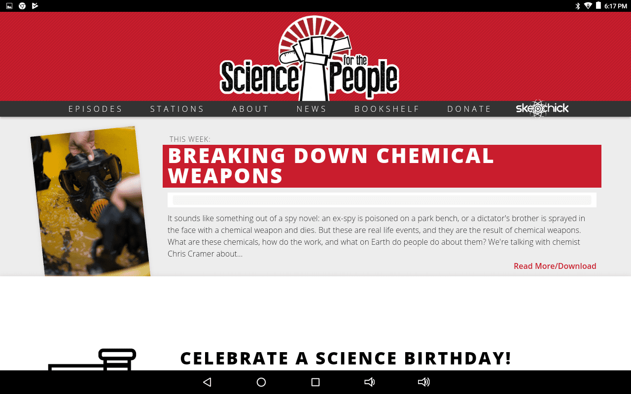 Science for the People podcast home page