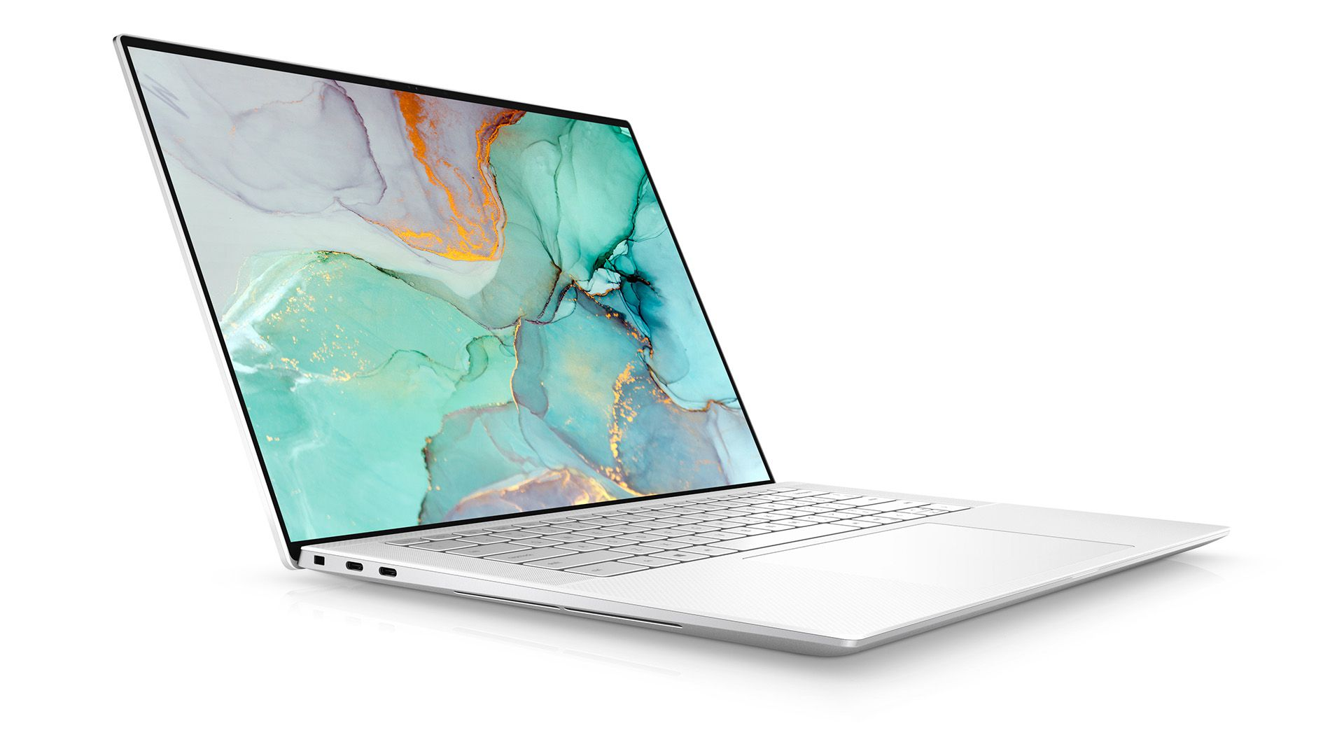 The 2021 Dell XPS 15 when viewed from an angle
