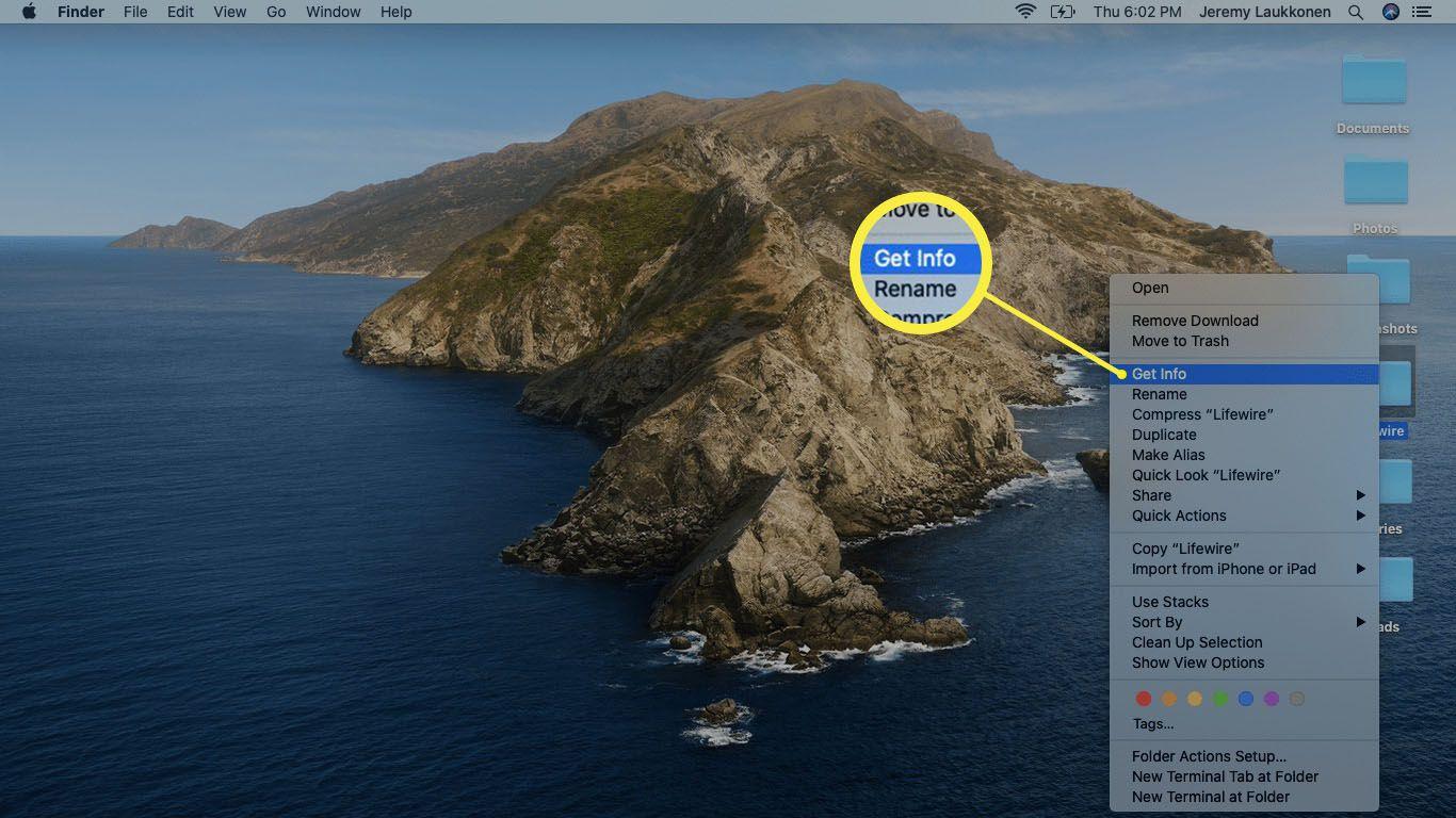 A screenshot of a folder context menu.