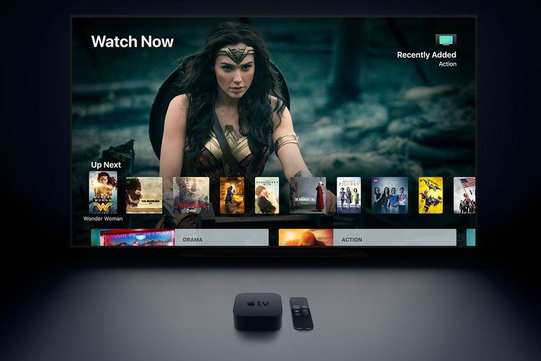 Apple TV 4K showing off the Wonder Woman movie