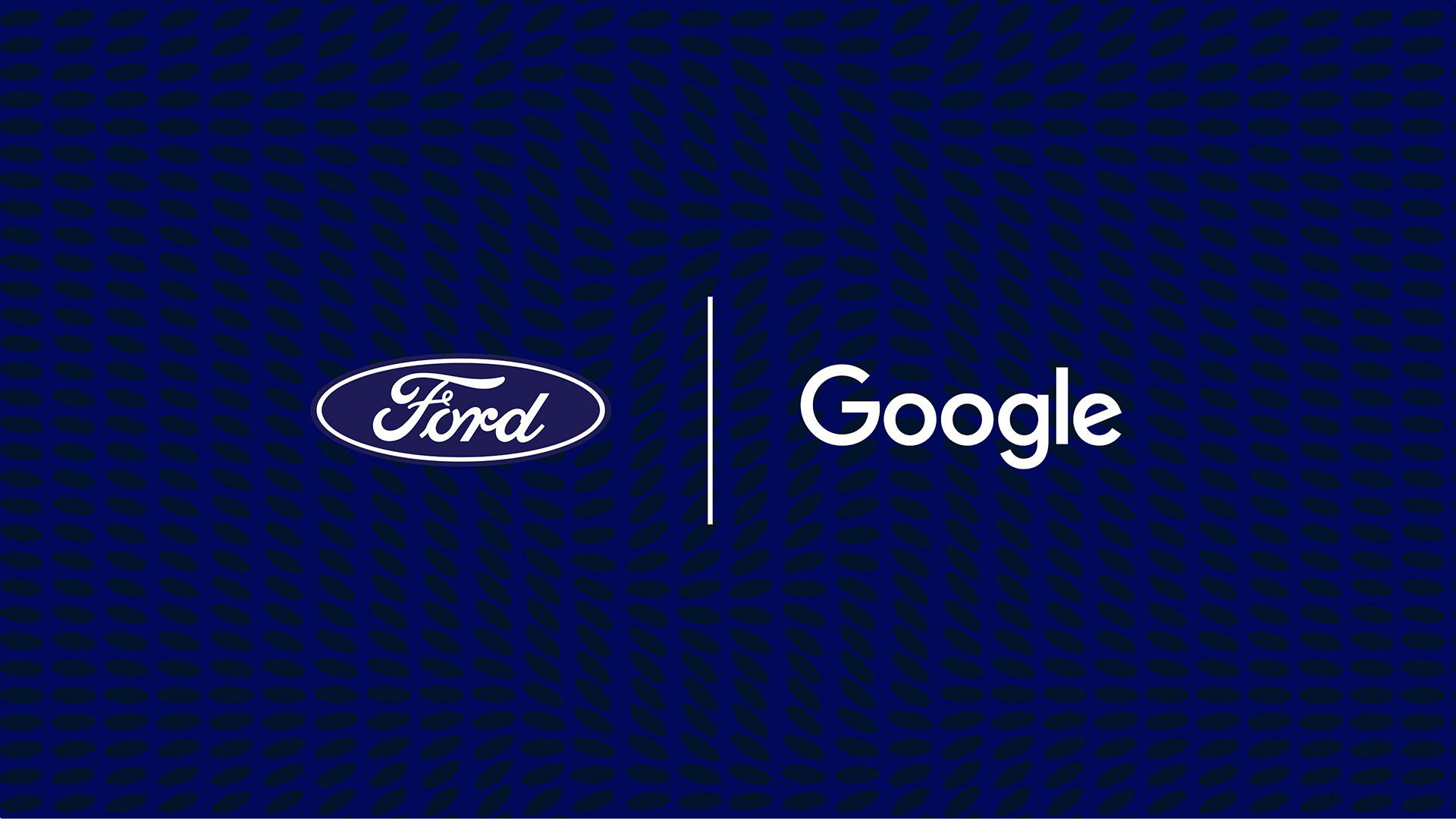 Ford promo image showing their partnership with Google