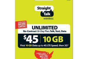 Straight Talk $45 Unlimited 30 Day Plan