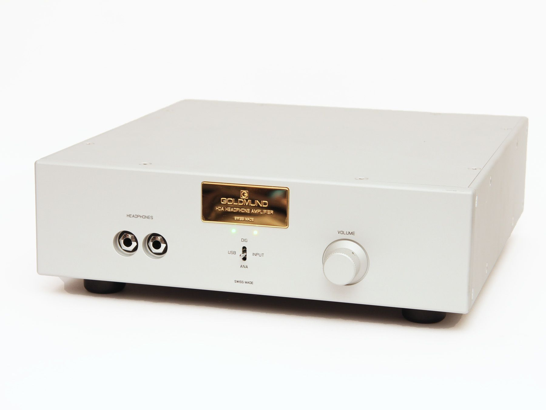 Goldmund Telos Hda Headphone Amp Review Amplifier Front View