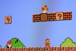 Original Mario with mushroom