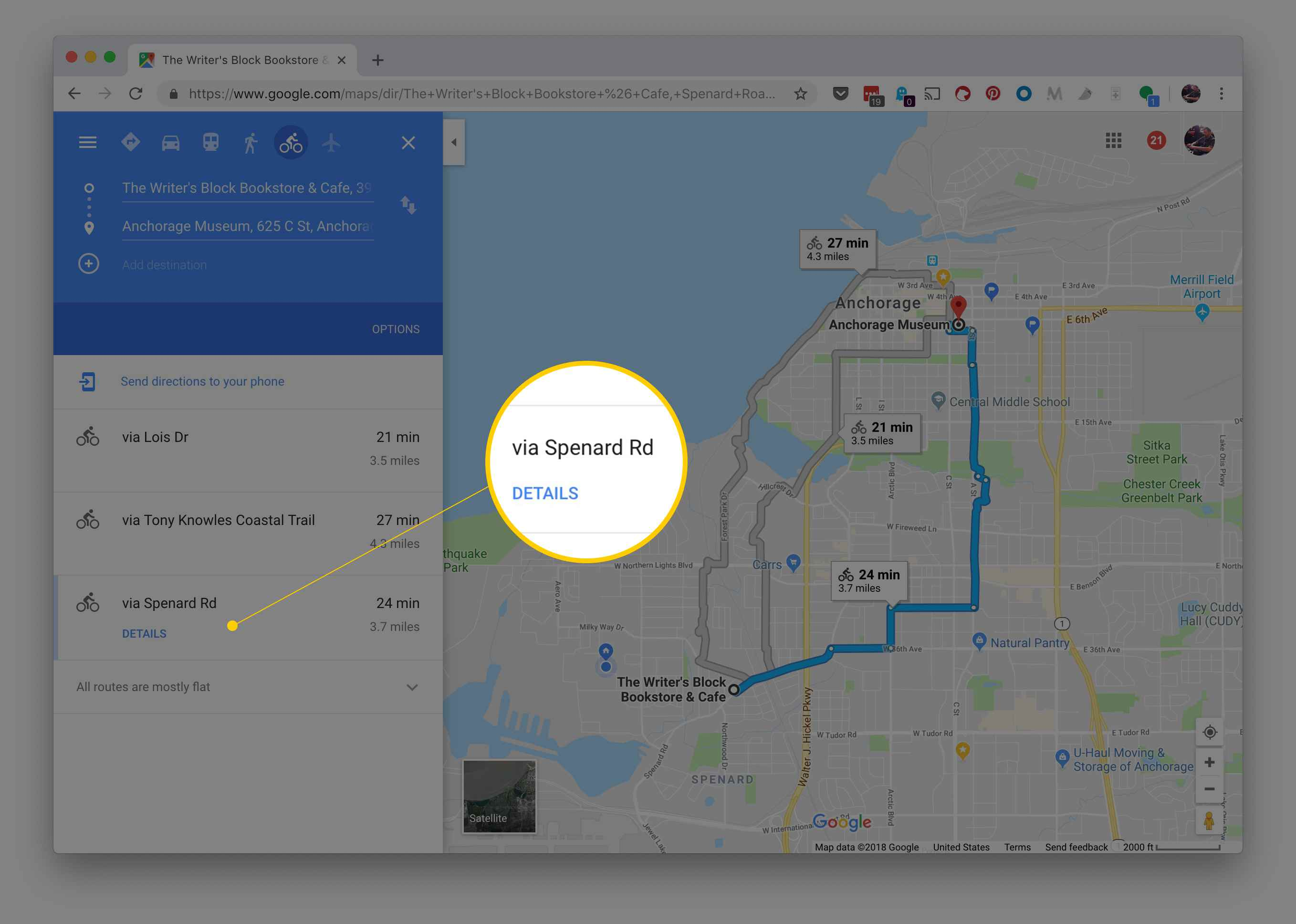 how to find alternate routes on google maps