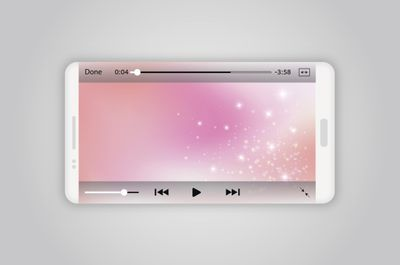An illustration of a video playing on a smartphone.