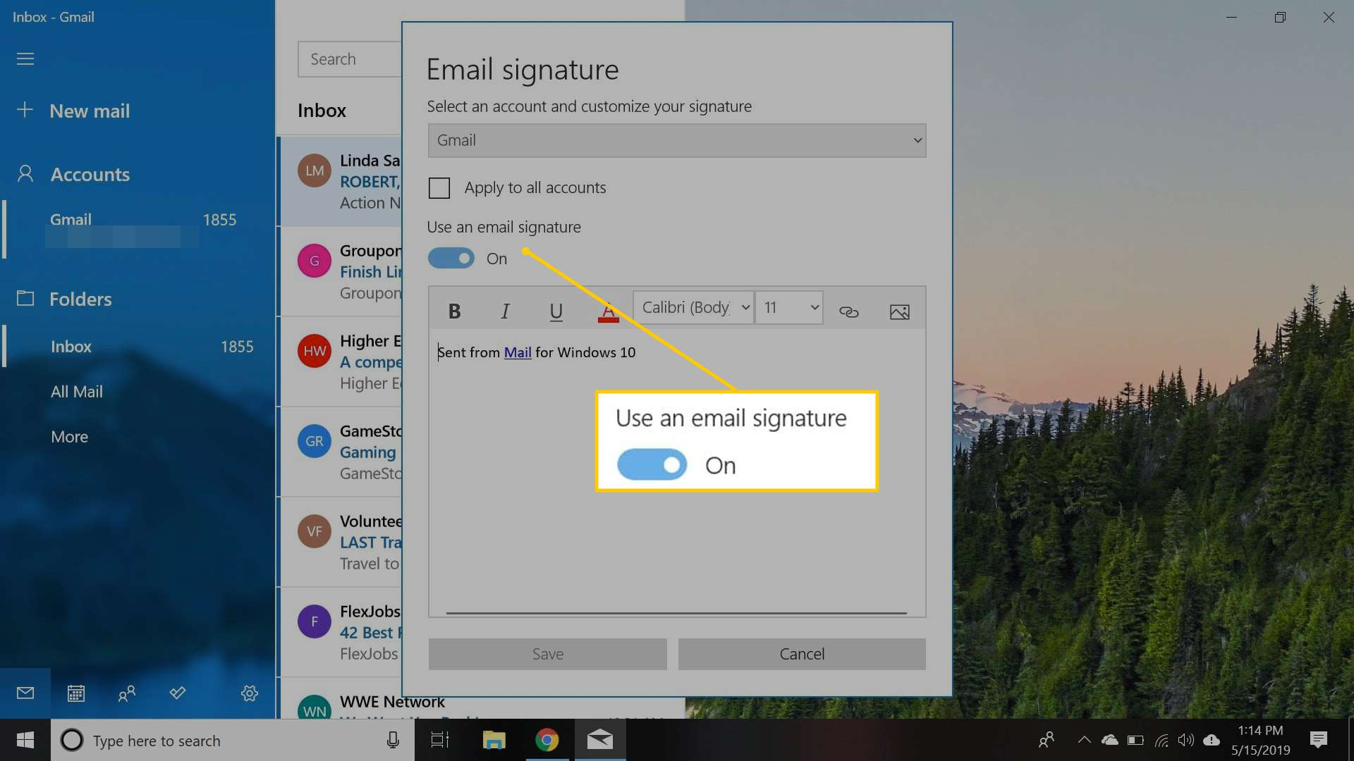 How to Set Up Email Signatures in Mail for Windows 10