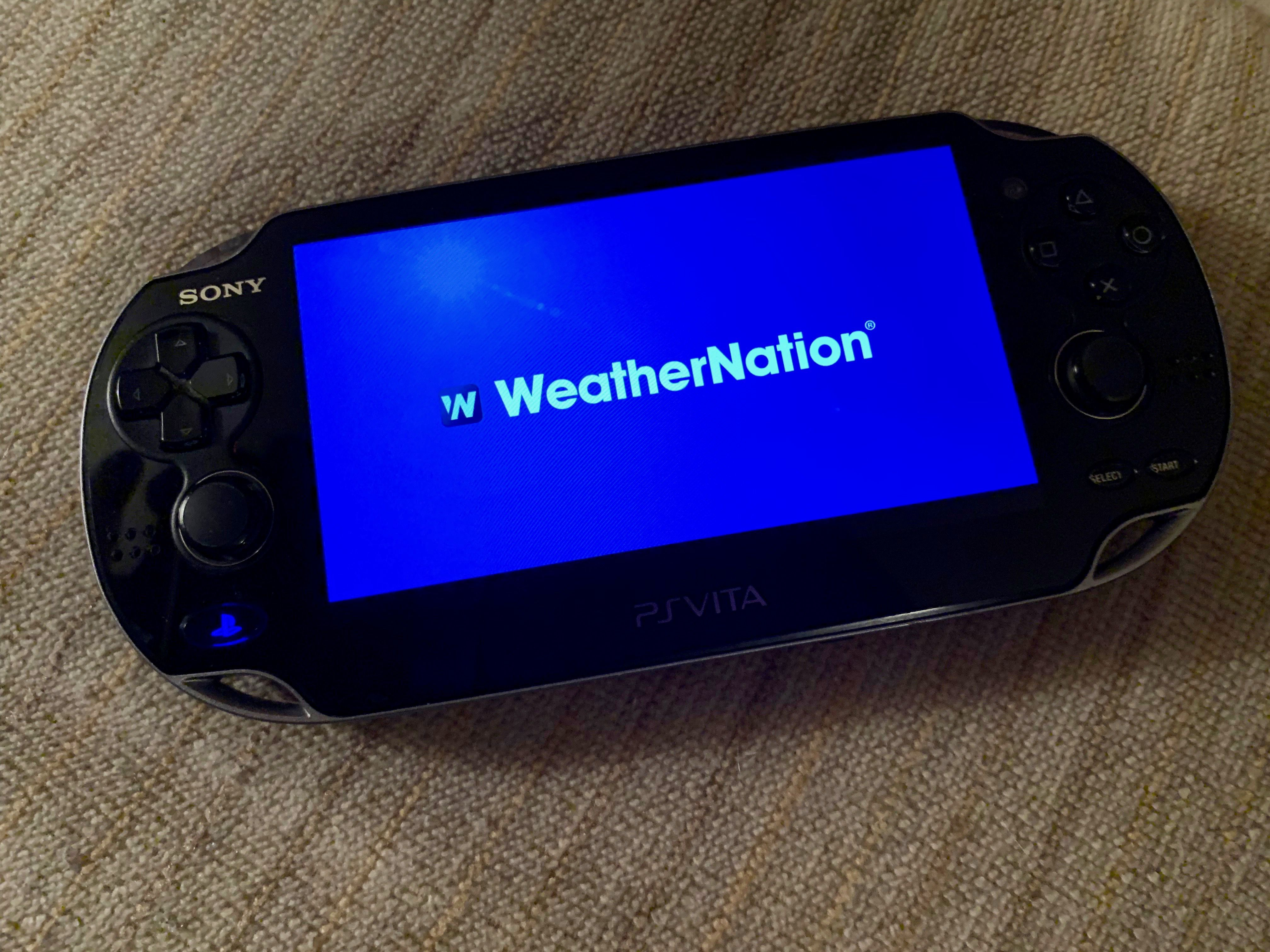 WeatherNation app on PS Vita