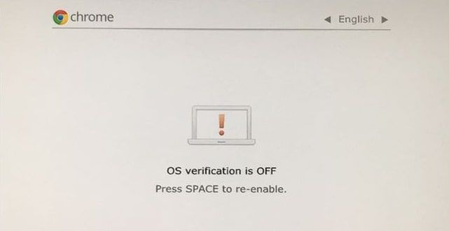 press Ctrl + D at the screen that says OS verification is OFF to load Chrome OS.