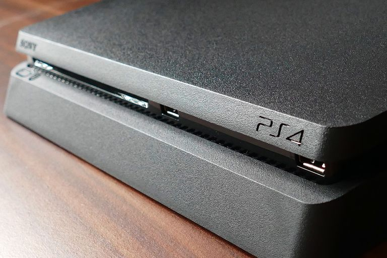 A PlayStation 4 Slim.