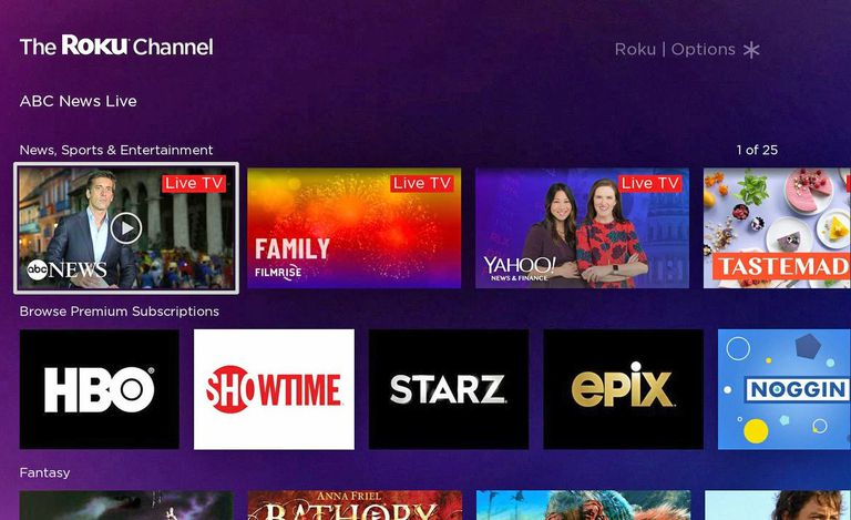 The Roku Channel – Live TV and Premium Subscriptions
