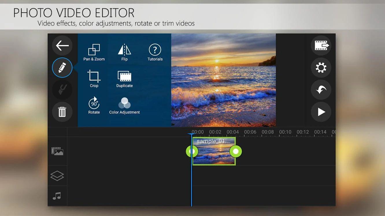 PowerDirector editing timeline.