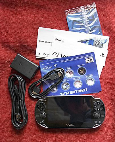 The PS Vita box contents.