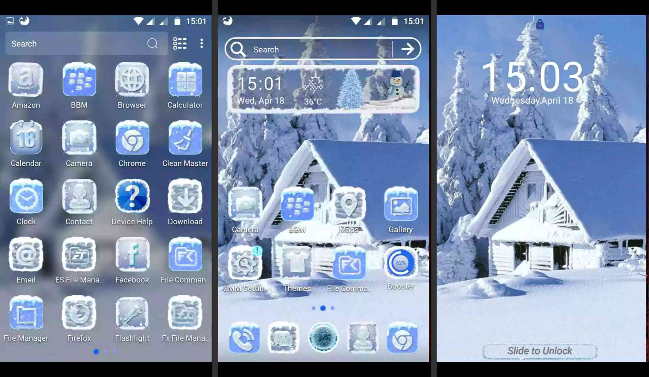 Ice Snow Theme for Android