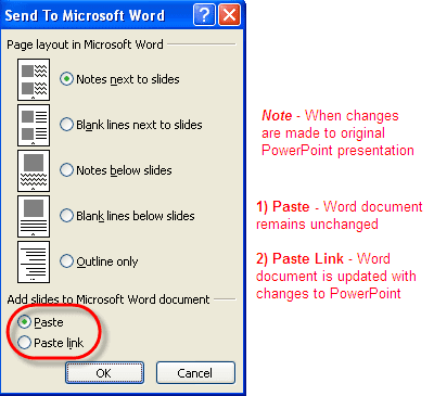 Converting PowerPoint Presentations to Word Documents