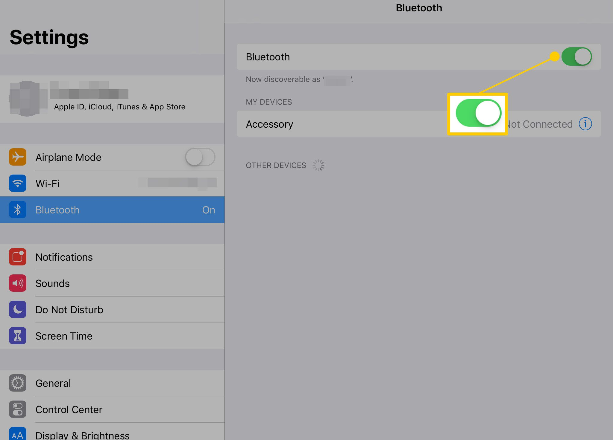 How To Pair Connect Or Forget A Bluetooth Device To The Ipad