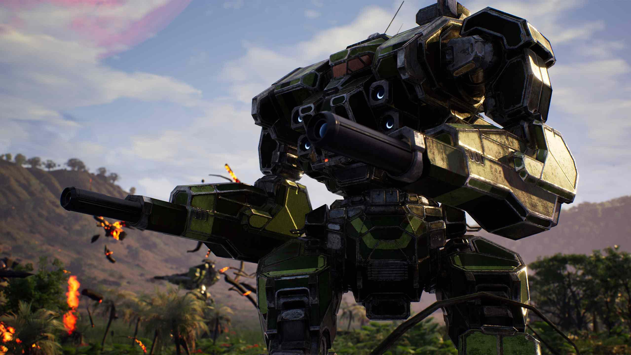 A press shot from 'MechWarrior 5: Mercenaries.'