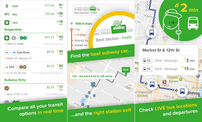 the Citymapper Transit Navigation app