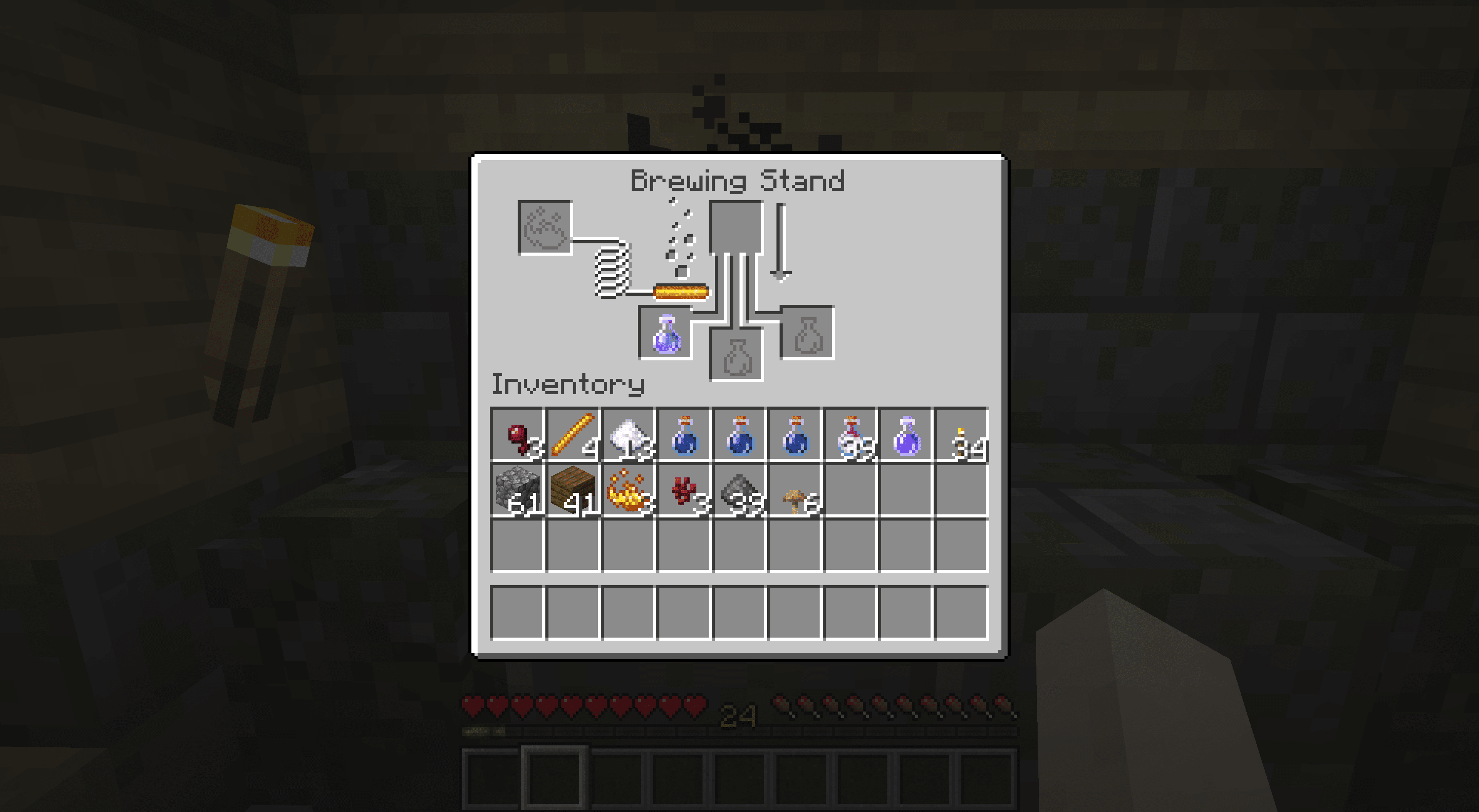 A Poison Potion in Minecraft.