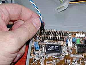 Attaching ATX control wires to a motherboard