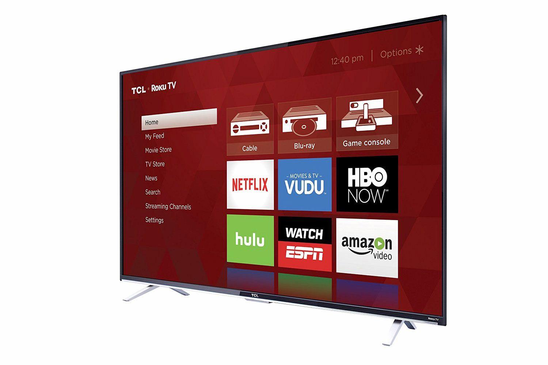 TCL US5800 Series 4K Ultra HD Roku TV - Facing Left